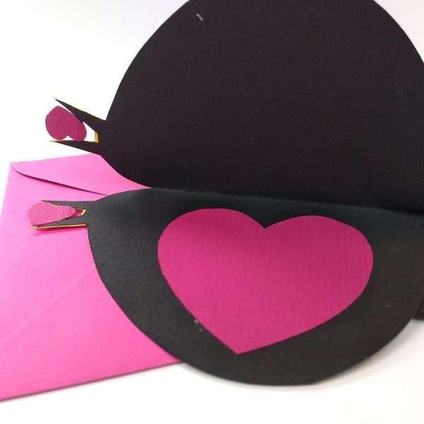 Inside of Greeting card blackbird