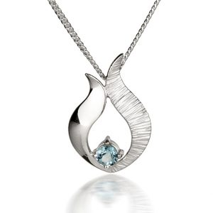 Ebb & Flow small blue topaz pendant by Fiona Kerr