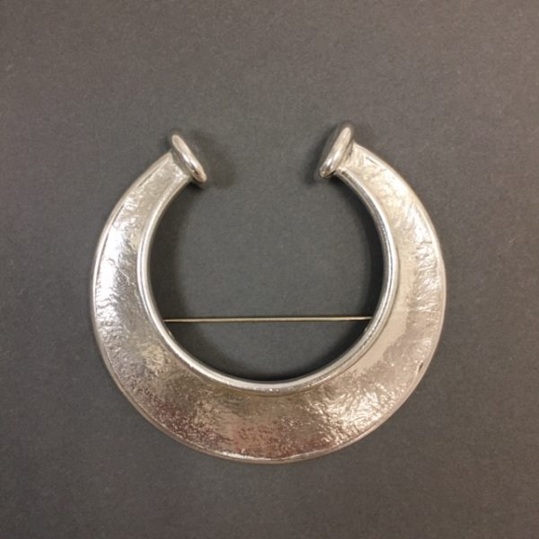 Torc Pewter Brooch by Reaction Jewellery