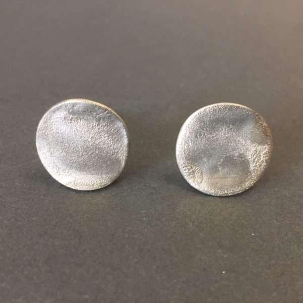 Rippled Silver Cufflinks by Shannon McShane