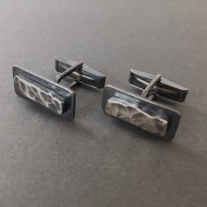 Rock Surface Cufflinks by Shannon McShane