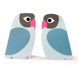 Adele Pound Mini Lovebirds blue