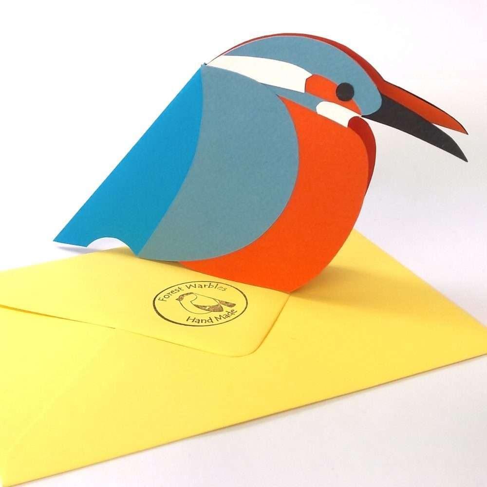 kingfisher card  craft ni