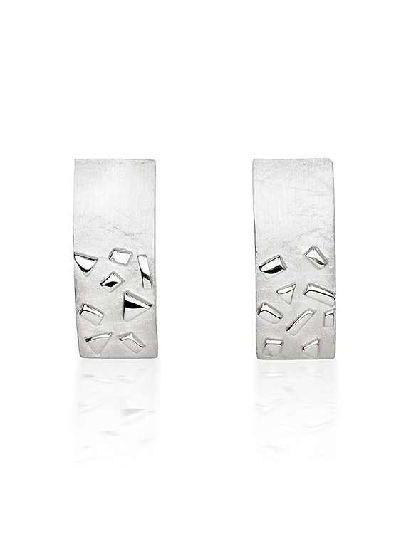 Silver Confetti Cufflinks by Fiona Kerr