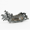 Back of Brooch oxidised silver with dendritic agate