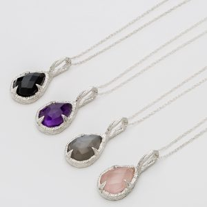 Teardrop pendants by Abbie Dixon