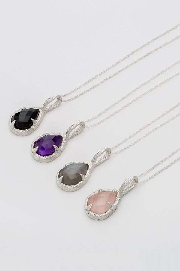 Teardrop pendants by Abbie Dixon