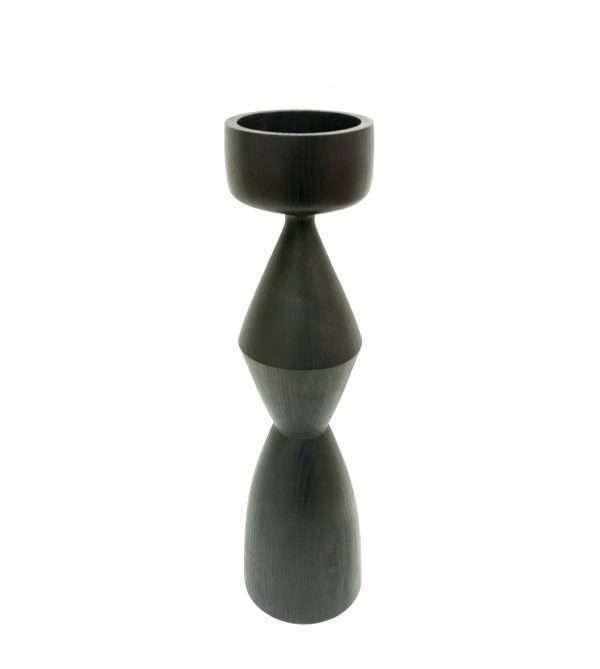 Black ash candlestick