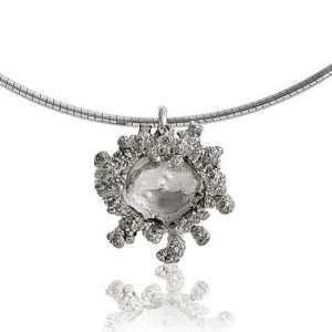 Small Spore Silver Pendant by Abbie Dixon