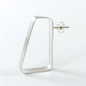 Single silver stud earring
