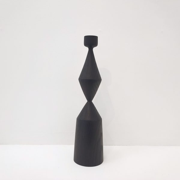 Ebonised ash candle stick