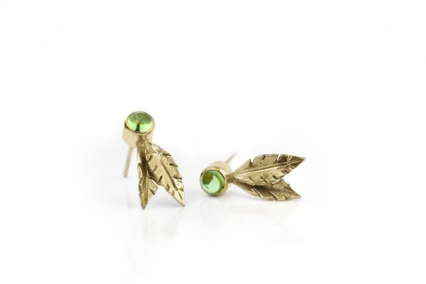 Peridot Flourish Stud Earrings by Cameron & Breen