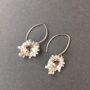 Silver Spore Earrings by Abbie Dixon