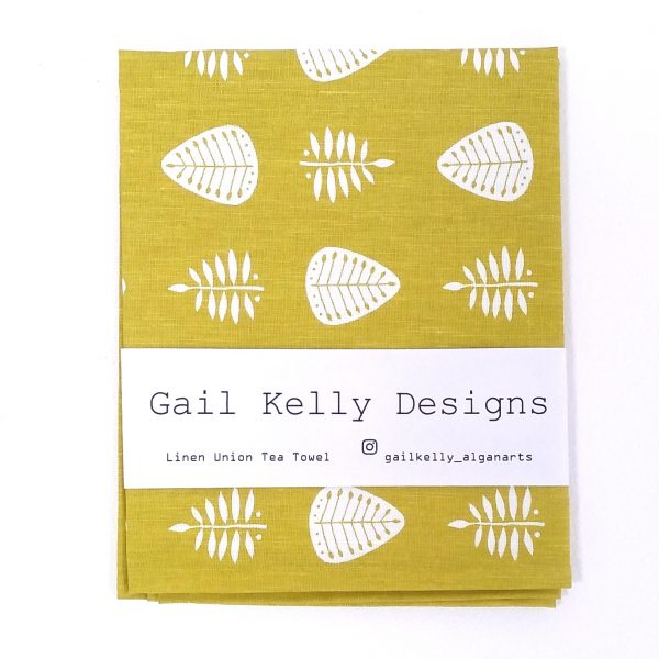 Gail Kelly tea towel olive