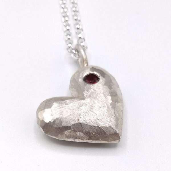 Angela Davison rock heart pendant