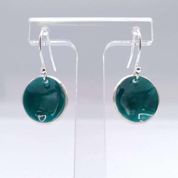 angela Davison enamelled turquoise earrings
