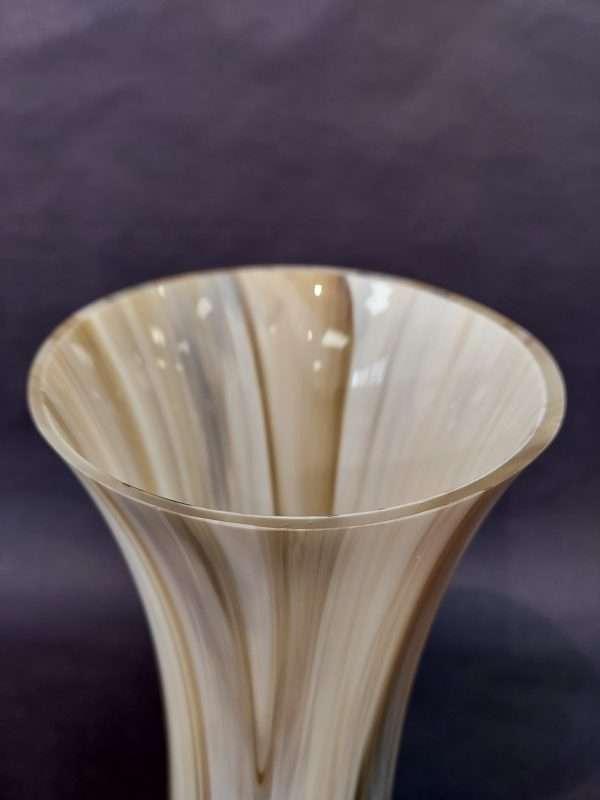 Rim of glass cream brown vase