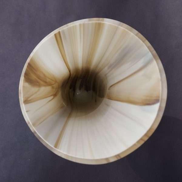 Top view of cream brown vase