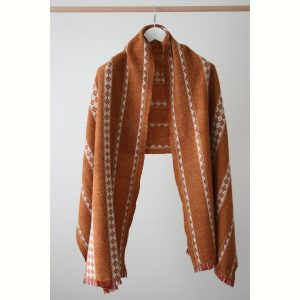 Lunula Wrap Wool Scarf Bracken by Olla Nua