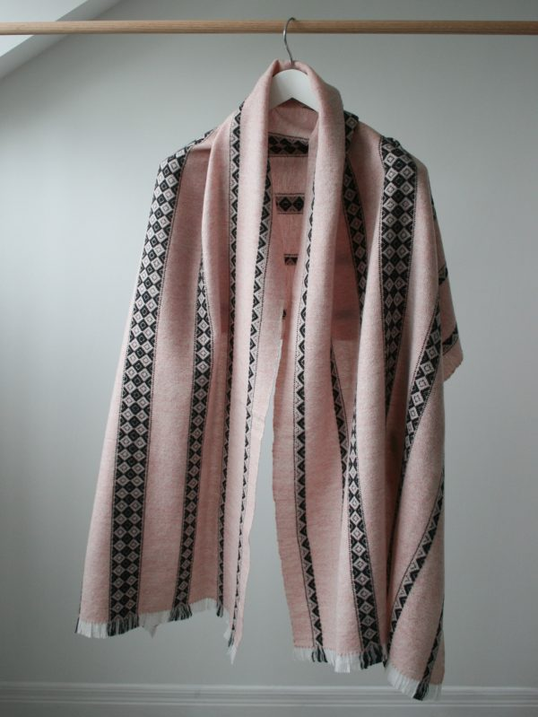 Lunula Wrap Wool Scarf by Nicola Gates