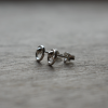 Silver sphere circle studs