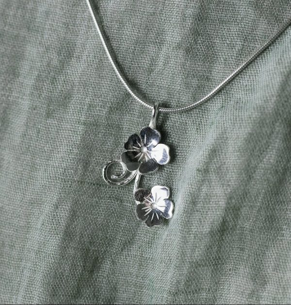 Flax Flower Necklace by Claire Mooney