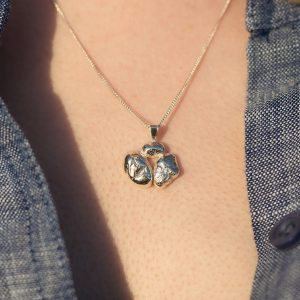Rocky Hill Silver Necklace by Claire Mooney
