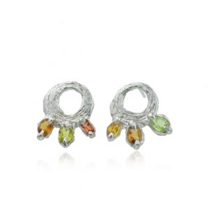 Tourmaline Citrine Tree Hugger Earrings by Cameron & Breen