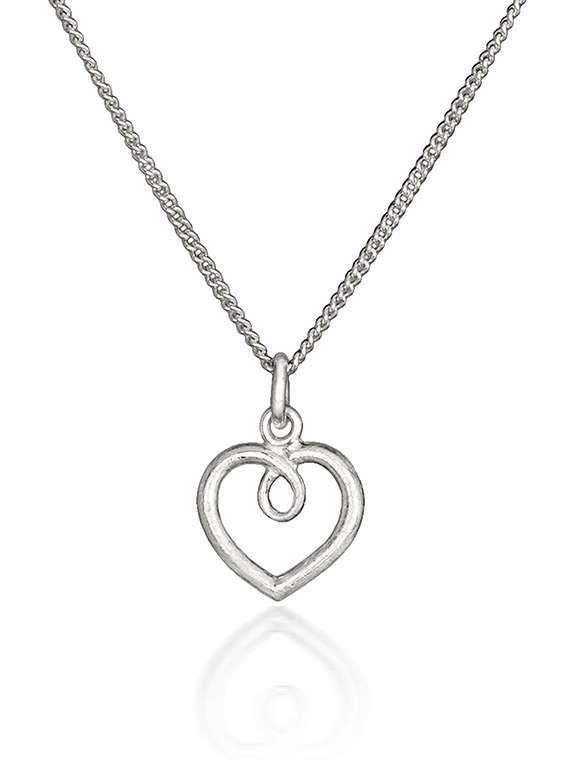 Small silver heart pendant