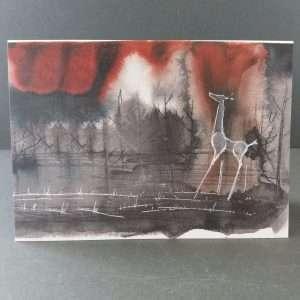 Giraffe landscape card
