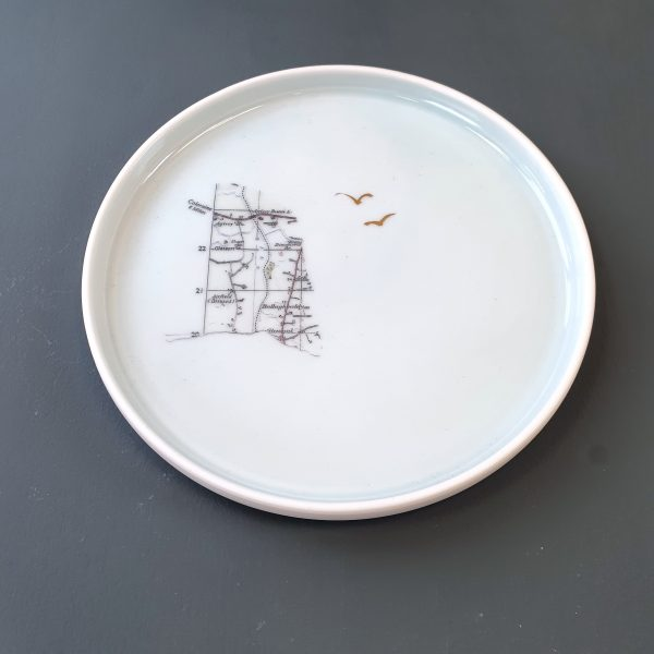 Porcelain Plate County Derry Map