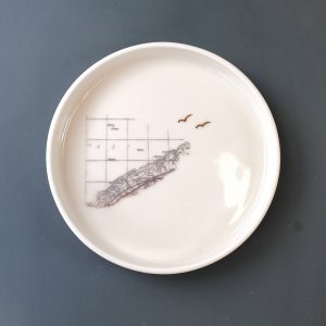 Porcelain Plate County Down Map