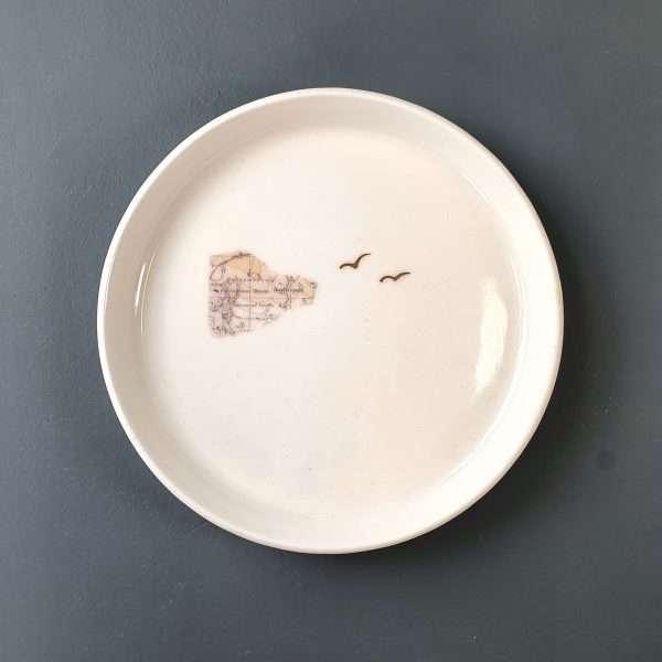 Porcelain Plate Stormont Map