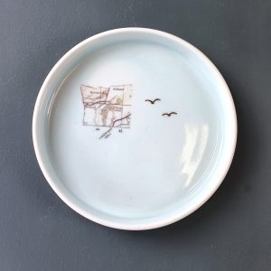 Porcelain Plate County Antrim Map