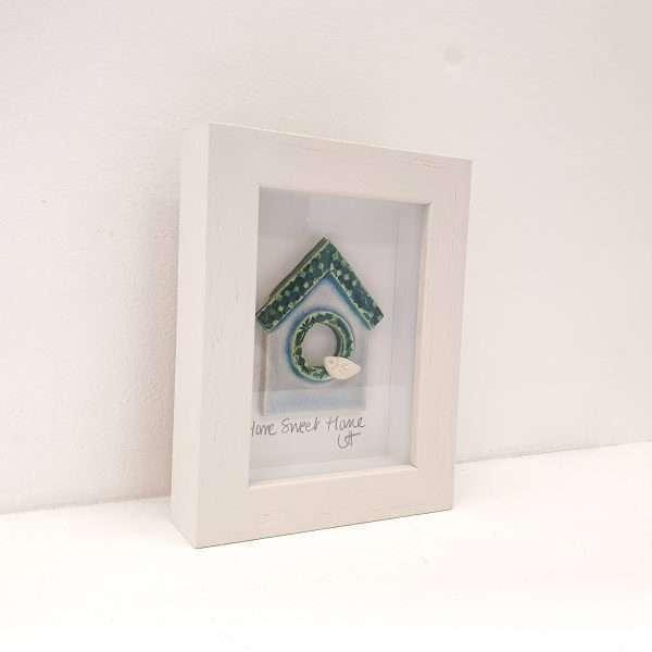 Handmade ceramic 'Birdhouse' ceramic tile frame