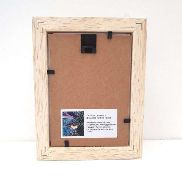 Handmade ceramic 'Bee Meadow' ceramic tile frame