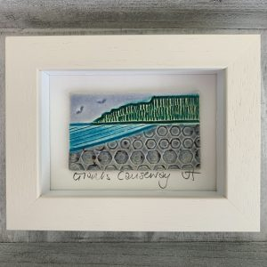 Handmade ceramic 'Giant's Causeway' ceramic tile frame