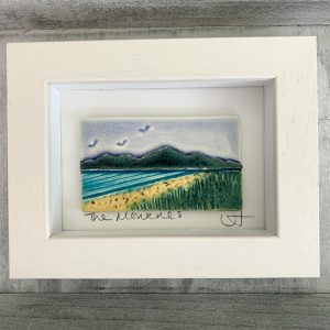 Handmade ceramic 'Mourne Mountains' ceramic tile frame