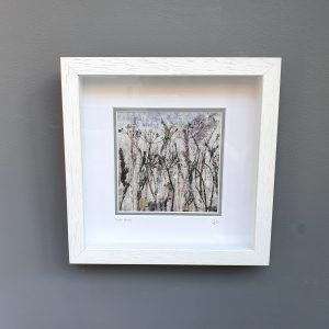 Meadow medley hand printed irish linen frame