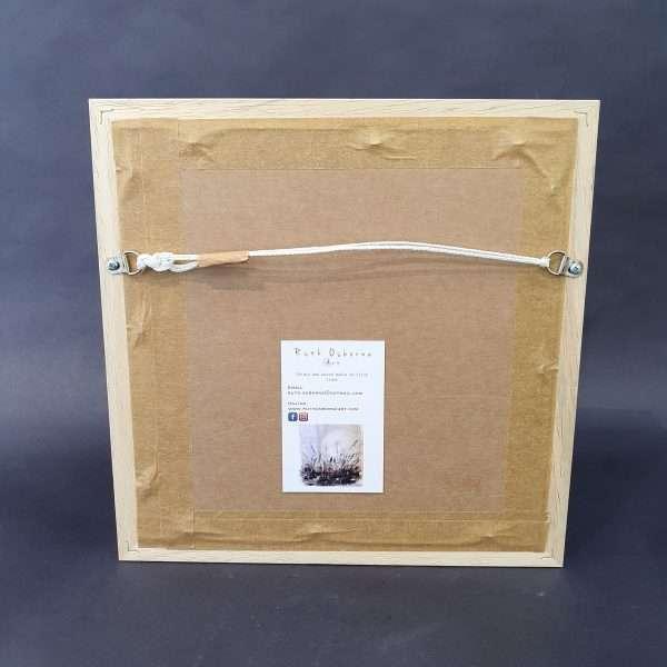 Meadow medley hand printed irish linen frame