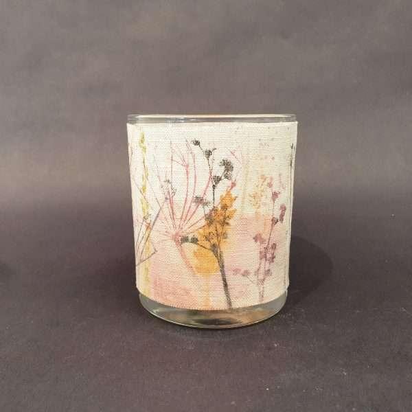 Vibrant solas linen tealight