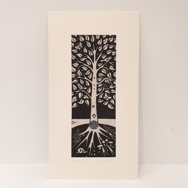 Tree of Life Linocut Picture