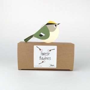 Paper Goldcrest Bird Decoration