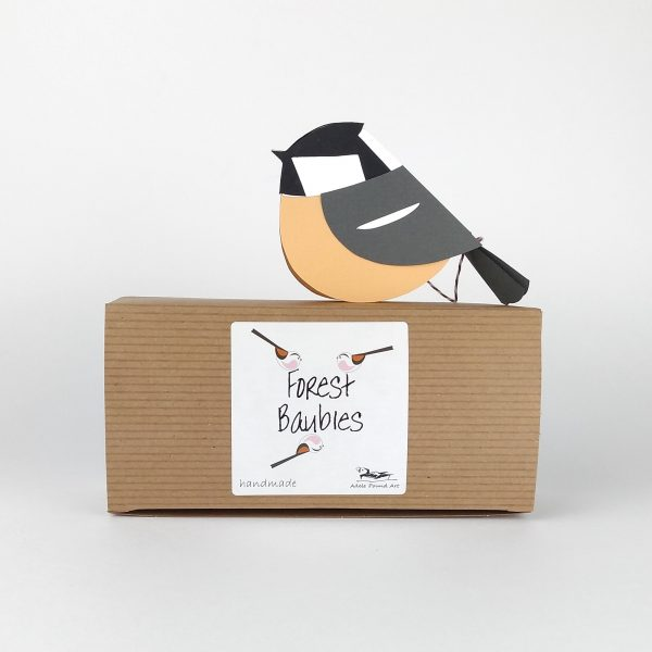 Paper Coal Tit Decoration