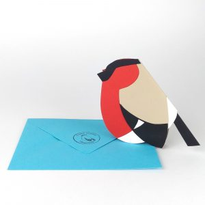 paper bullfinch card