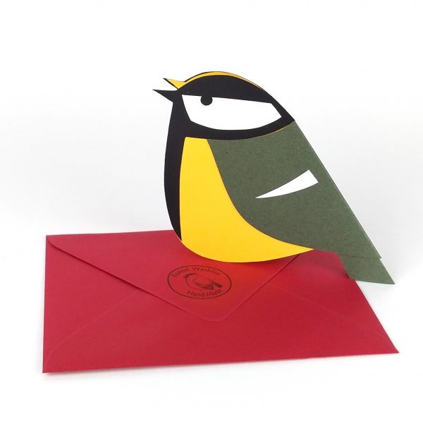 Paper Great Tit card