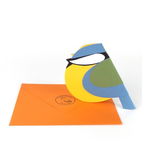 paper blue tit card