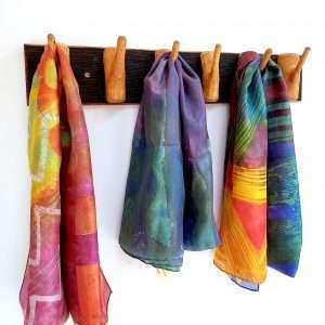 Oak and birch coat rack