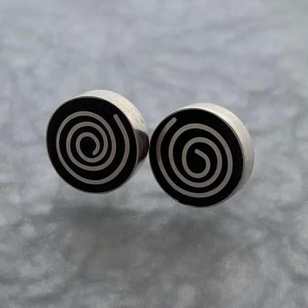 Silver Swirl Stud Earrings by Carla Pennie McBride