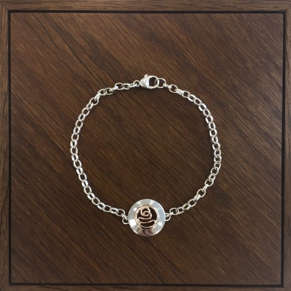 Silver and Rose Gold Bracelet by Nora Watson